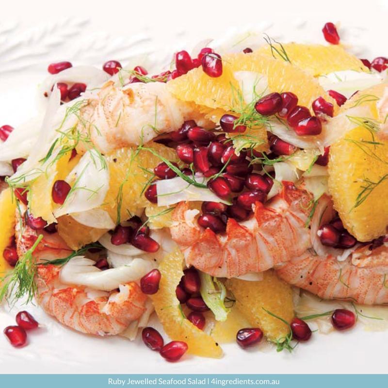 4ING l Recipe Image l Ruby Jewelled Seafood Salad