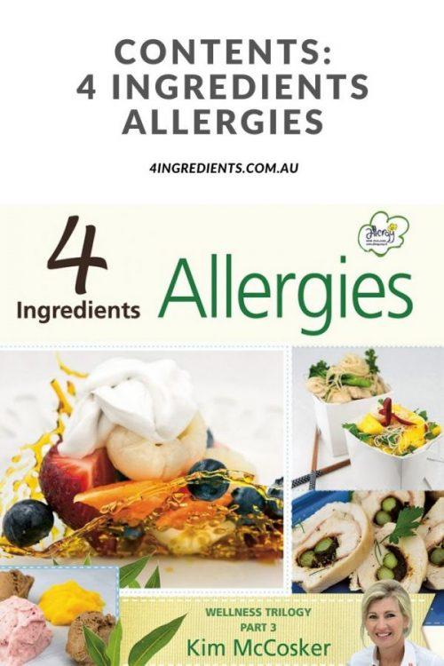 4 Ingredients Allergies Contents