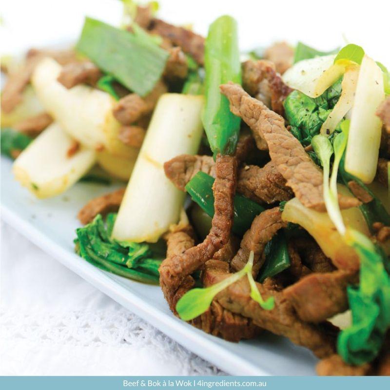 4ING l Recipe Image l Beef & Bok à la Wok