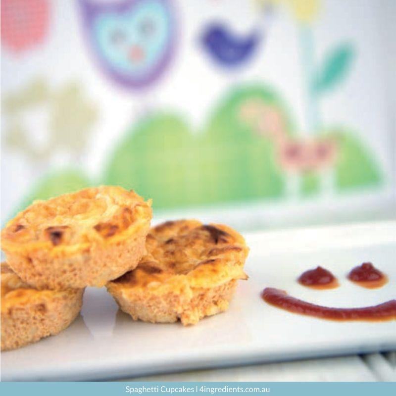 4ING l Recipe Image l Spaghetti Cupcakes - school lunches