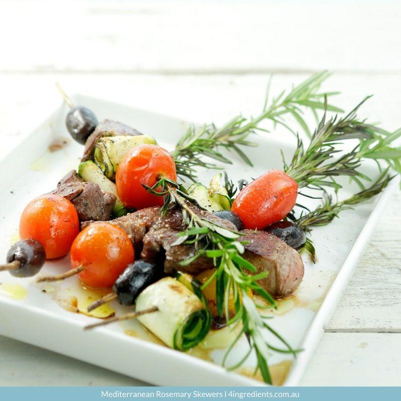 4ING l Recipe Image l Mediterranean Rosemary Skewers