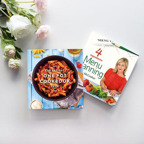 4 Ingredients Menu Planning & The Easiest One Pot Cookbook Ever