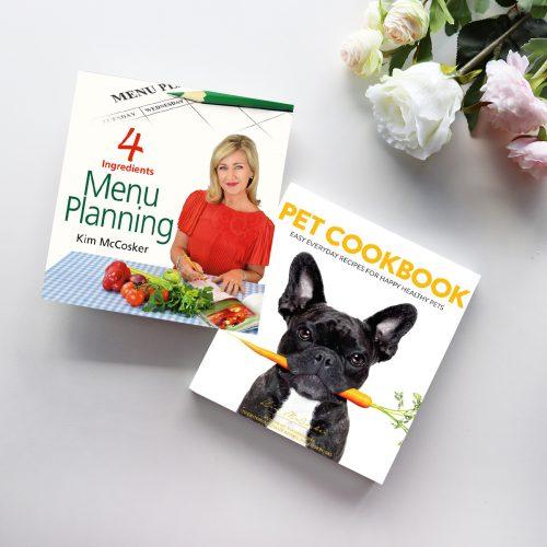 4 Ingredients Menu Planning & Pet Cookbook