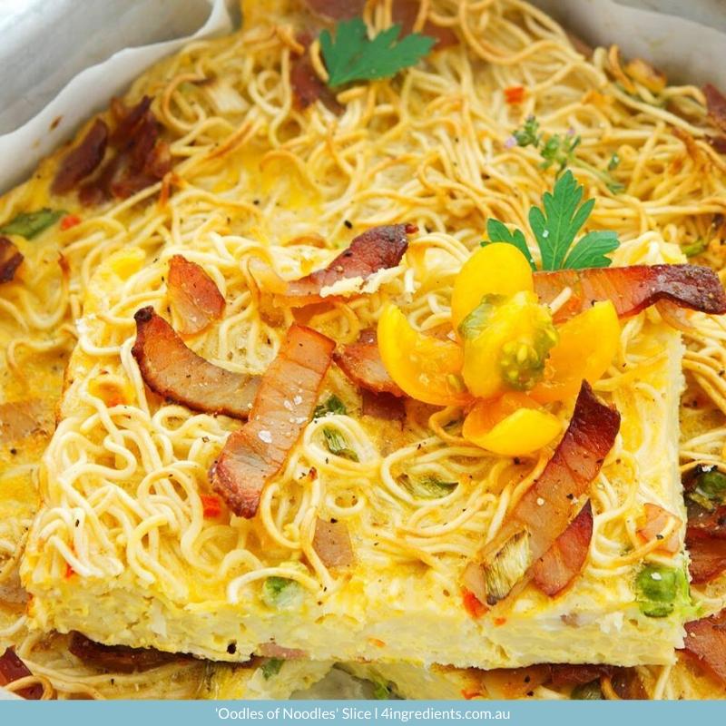4ING l Recipe Image l 'Oodles of Noodles' Slice