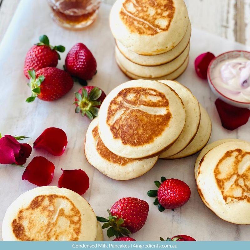 Condensed Milk Pancakes