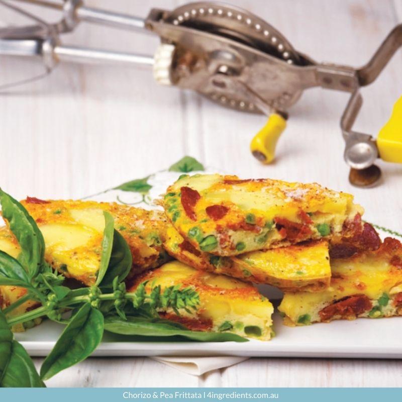 Chorizo & Pea Frittata