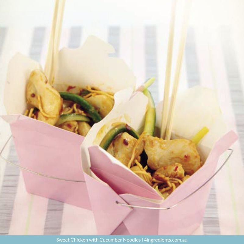 Sweet Chicken with Cucumber Noodles