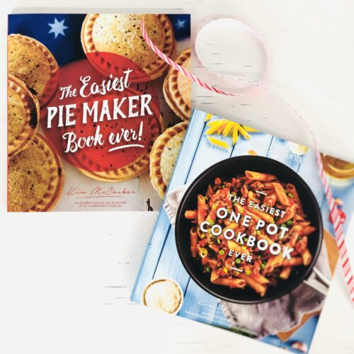 The Easiest Pie Maker Book ever + 4 Ingredients The Easiest One Pot Cookbook ever!