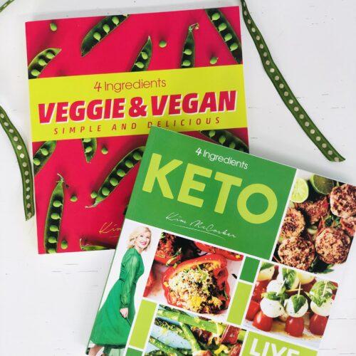 4 Ingredients KETO + 4 Ingredients Veggie & Vegan