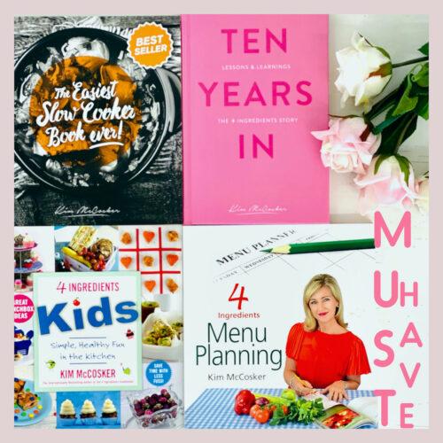 The Easiest Slow Cooker Book ever + 4 Ingredients Kids + 4 Ingredients Menu Planning + a FREE copy of Ten Years In