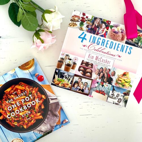 4 Ingredients The Easiest One Pot Cookbook ever + 4 Ingredients Celebrations