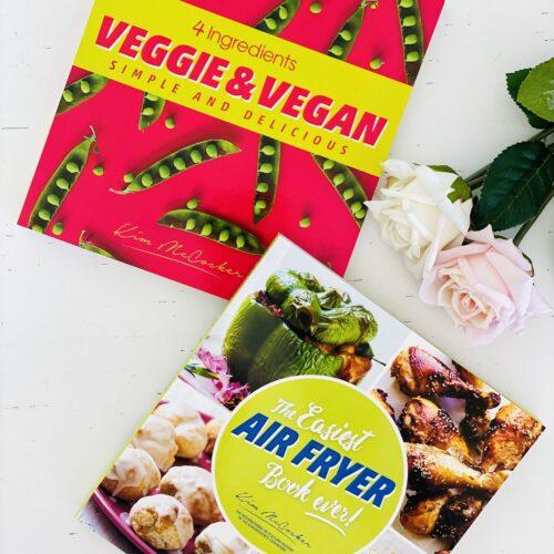 4 Ingredients Veggie & Vegan + The Easiest Air Fryer Book ever