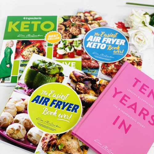 4 Ingredients KETO + The Easiest Air Fryer Book ever + The Easiest Air Fryer KETO Book ever + Free copy of Ten Years In